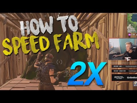 1 MINUTE SPEED FARM TUTORIAL - New Method (Fortnite Battle Royale)