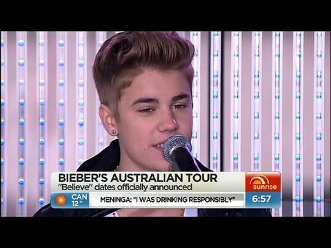 Sunrise - Bieber announces Australian tour