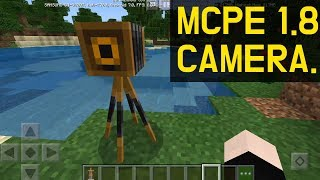 Cameras were added to Minecraft 1.8.0.8 too (How to spawn it)
