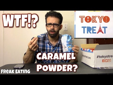 WTF: Caramel Powder Snow - Tokyo Treat Unboxing (Dec 2015) | FreakEating Reviews