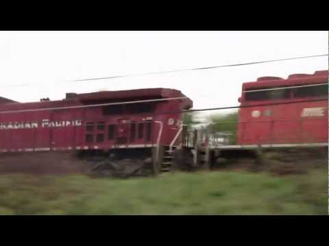 CSX Canadian Pacific + Leaser Ethanol Train K637 HD