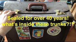 40 years packed up! what's inside these time capsule boxes?!?