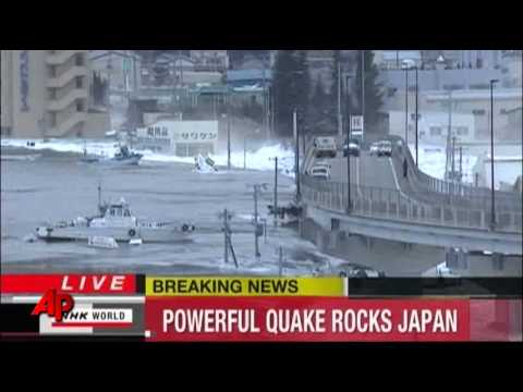 Raw Video: Earthquake Triggers Tsunami In Japan video