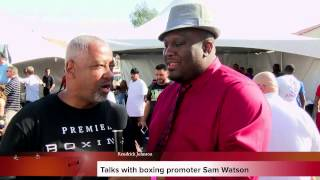 video I spoke with Al Haymons right hand man Sam Watson at Floyd Mayweather's media day workout in Las Vegas, he shares his thoughts on Mayweather vs Pacquiao, Premier Boxing and what to expect ...