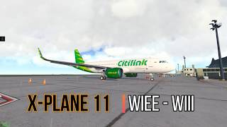 XPlane 11 Indonesia Amatir Full Flight Airbus A320 Jardesign WIEE - WIII