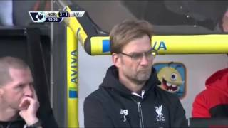 Cuplikan Gol Norwich City vs Liverpool 4-5 (23-01-2016)