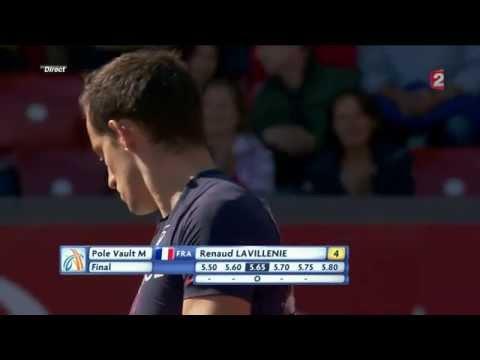 Renaud Lavillenie gagne en 5m90 le saut à la perche des championnats Europe d'athlétisme 2014 ZÜRICH