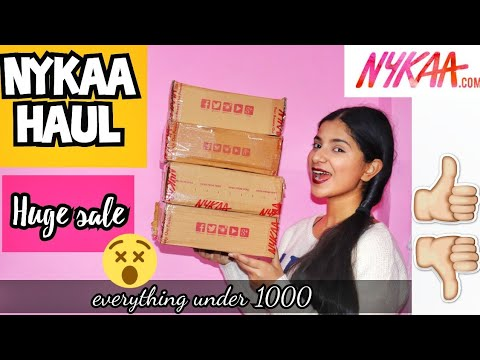 NYKAA Sale HAUL | HUGE sale | Affordable Products| Ritika Thapar|