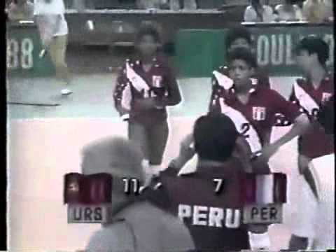 Peru vs Soviet Union at 1988 Seoul Olympics Games - set 4