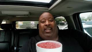 Ice Cold 44oz. Strawberry Sprite Sipped Fast Thru a Straw