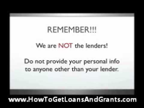 How To Get Loans And Grants
