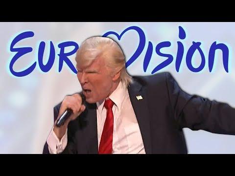 Donald Trump takes the USA to the Eurovision (Meme)