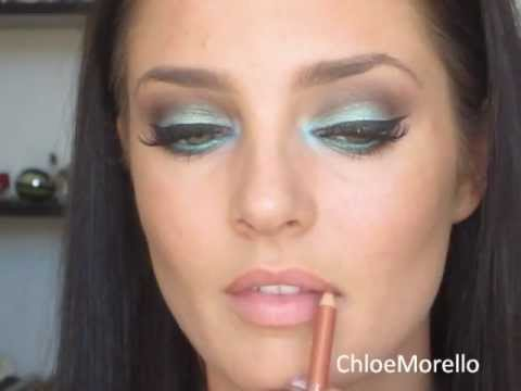 Exotic Teal and Brown Makeup