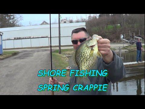 SHORE FISHING SPRING CRAPPIE 2015