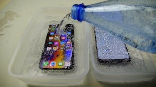 iPhone XS vs Samsung Galaxy S9 Sparkling Water Freeze Test - Which Will Survive?