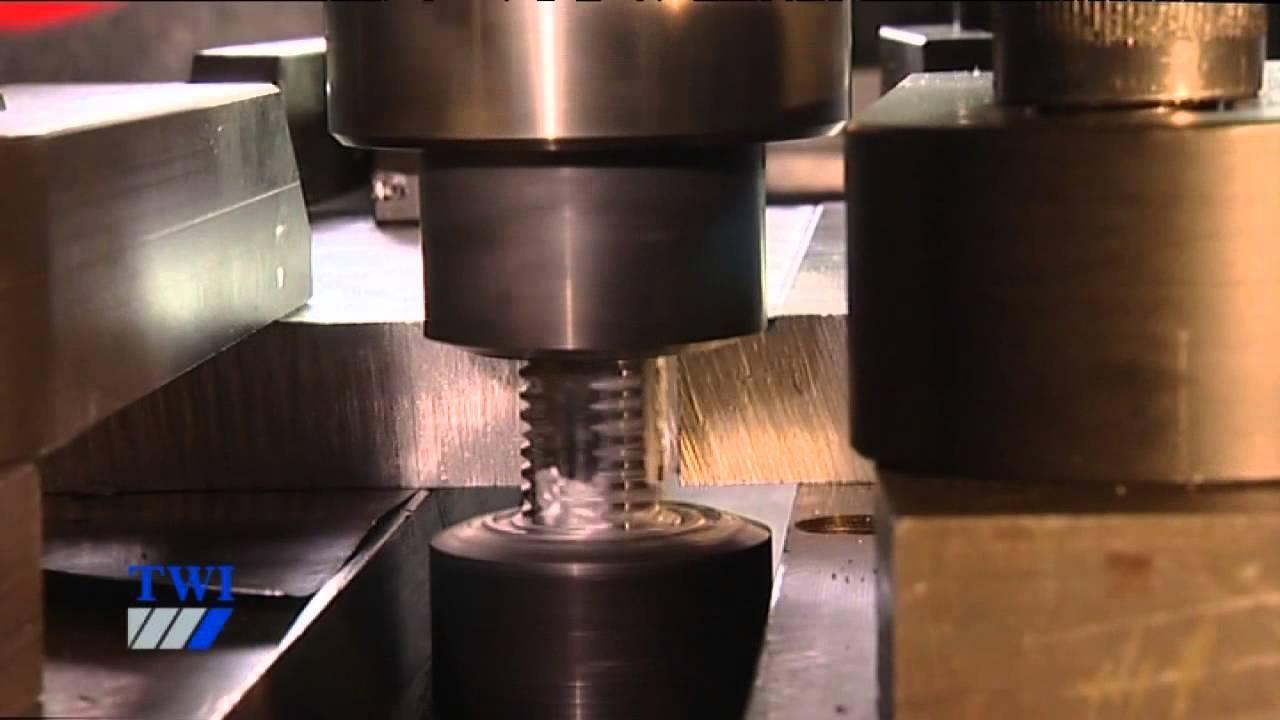Friction Stir Welding >> Floating Bobbin friction stir welding - YouTube