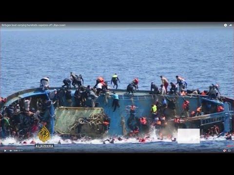 Refugee boat carrying hundreds capsizes off Libya coast