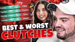 HIKO Reacts to KYEDAE'S Best & Worst Valorant Clutches!