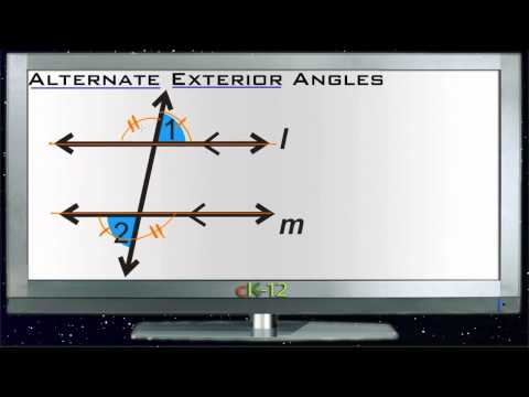 Alternate Exterior Angles Principles - Basic