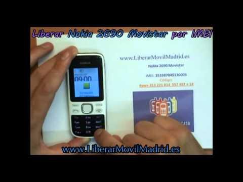 Liberar Nokia 2690 Movistar por Código IMEI - www.LiberarMovilMadrid.es