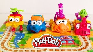 Playdoh Vehicles Playset Cars, Truck, Helicopter