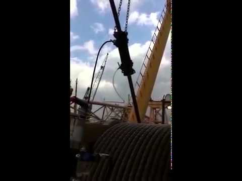 Viper Wire Rope Lubricator used on Offshore Crane
