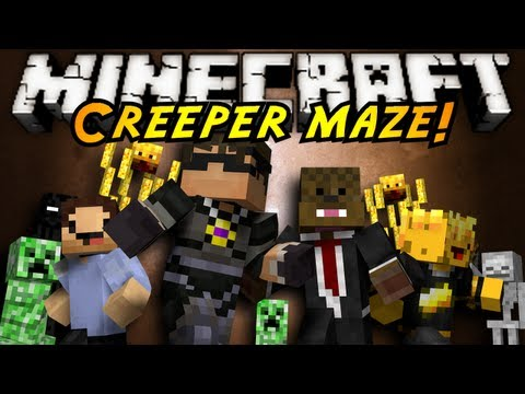 Minecraft Mini-Game : INFINITE CREEPER MAZE!