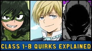 Class 1-B Quirks Explained [My Hero Academia]