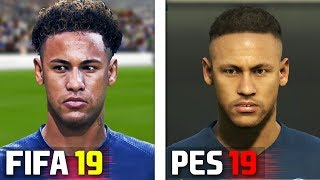 FIFA 19 vs PES 2019 PSG Player Faces Comparison