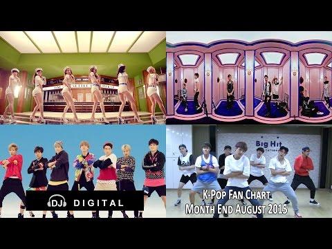 Top K-Pop Songs Chart (Fan Chart) - Month End August 2015