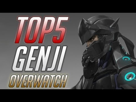 ТОП5 Лучших Гэндзи Овервотч ■ Best TOP5 Genji Overwatch ■ Особенности Overwatch игроков ■ PRO Genji