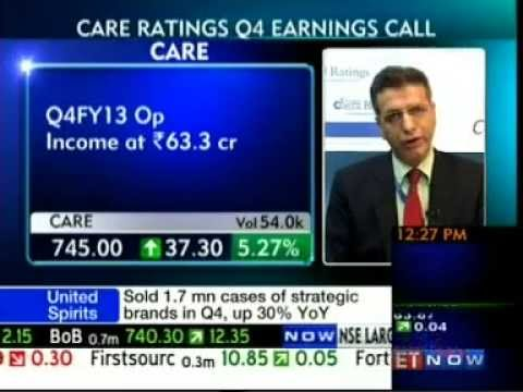 Mr D R Dogra - MD & CEO, CARE Ratings, Audited Financial Results, ET Now - 160513