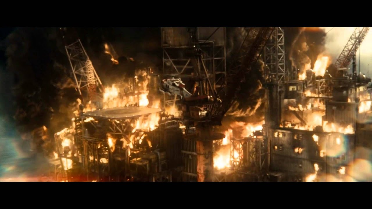 Steeling Scene Man of Steel Oil Rig Scene