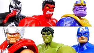 Thanos & Red Hulk Are Destroying The City~! Go Avengers, Protect Our City - ToyMart TV