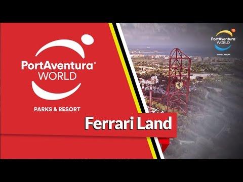 Ferrari land: aparecieron más imágenes del parque que prepara en España