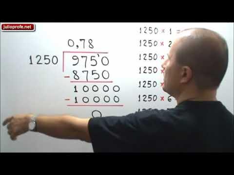 División de números decimales - Dividing decimals