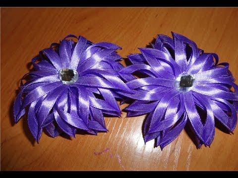 Цветы из тонкой атласной ленты своими руками