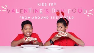 Kids Try Valentine's Day Food From Around The World | Kids Try | HiHo Kids