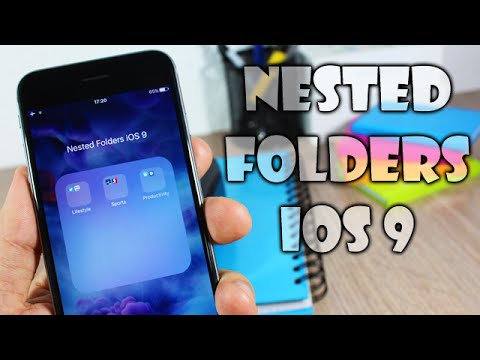 how to create nested folders in ios 11
