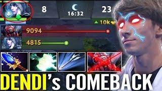 DENDI Test 7.21 NEW CANCER HERO - Drow Ranger Aghanim's + Mjollnir Dota 2 gameplay