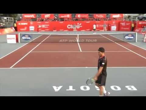 Richard Gasquet shock loss to Victor Estrella in Bogota 2014 Amazing Highlights (COURT LEVEL VIEW)