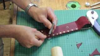 Leather Riveting a Knife Sheath