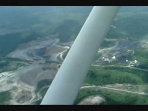 Up in the Air flyover of mountaintop removal sites in Charleston, West Virginia
