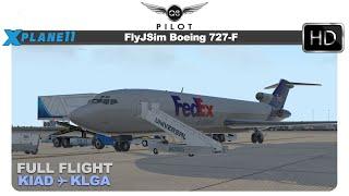 [X-Plane] FlyJSim Boeing 727 | KIAD ✈ KLGA | Approaching LaGuardia