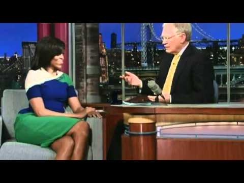 Michelle Obama on Late Show with David Letterman