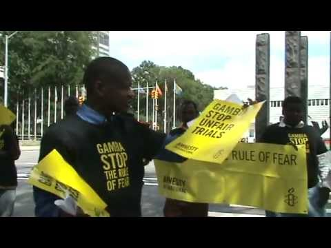 GAMBIANS DEMONSTRATE IN USA