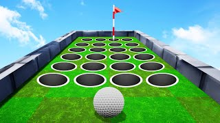 DODGE The FAKE Holes To WIN! (Golf It Troll Map)