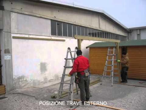 Struttura in legno addossata youtube for Comprare una casa di legno