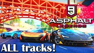 DRIVING ON ALL ASPHALT 9 TRACKS! (feat. Sumit Saha)