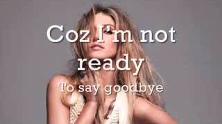 Watch Delta Goodrem Im Not Ready video